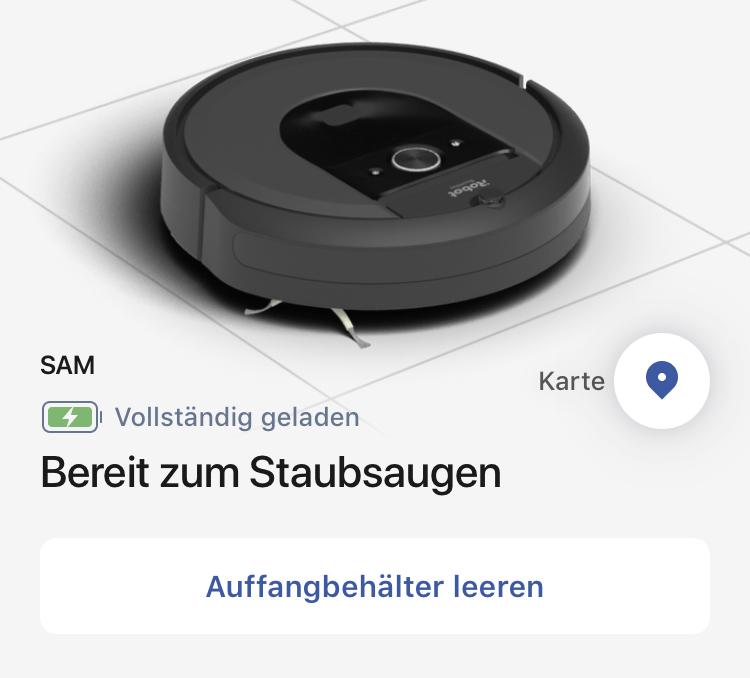 Screenshot der iRobot Home App